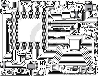 Vector circuit board - industrial background