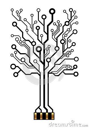 Free Vector Circuit Tree Stock Photo - 34279490