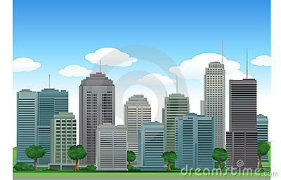 Vector city buildings