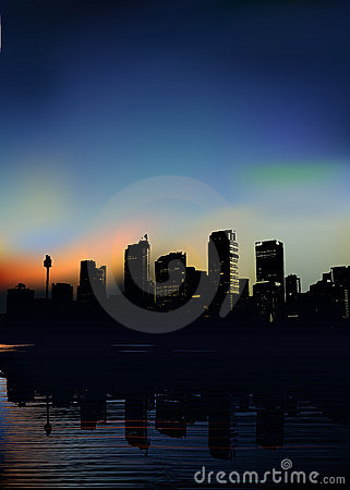 Free Vector City In The Morning Royalty Free Stock Images - 7720719