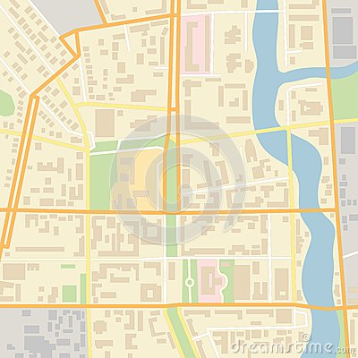 Free Vector City Map Royalty Free Stock Image - 43505376