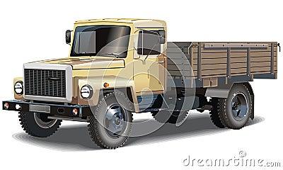 Vector classic cargo truck