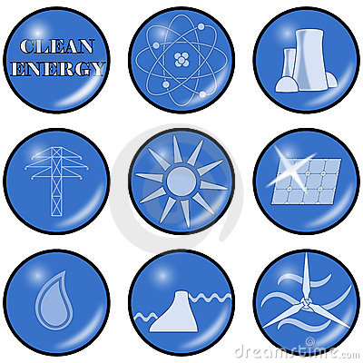 Vector Clean Alternative Energy Icons