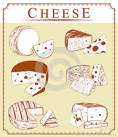 Vector clipart collection of cheese