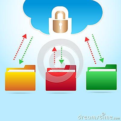 Vector cloud backup files
