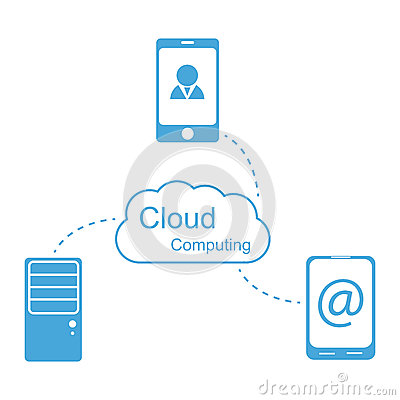Vector cloud computing concept. Modern design temp