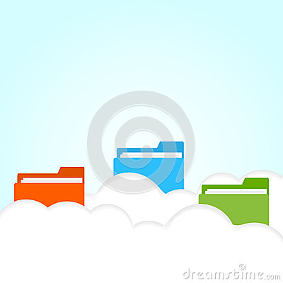 Vector cloud folder