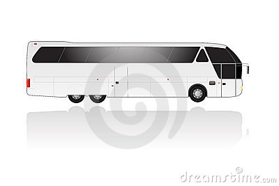 Vector coach with text space