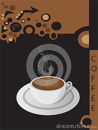 Vector coffee brochure