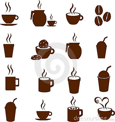 Free Vector Coffee Chocolate And Hot Beverages Drinks Royalty Free Stock Photography - 8903627