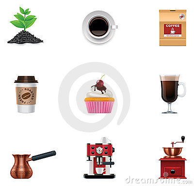 Free Vector Coffee Icon Set Stock Photo - 23311130
