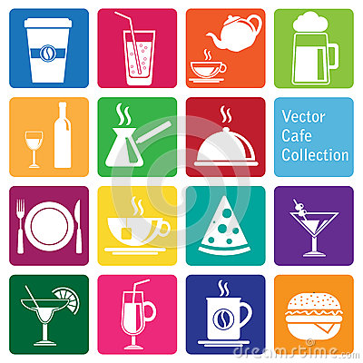 Free Vector Collection: Cafe And Restaurant Icons Royalty Free Stock Image - 64923466