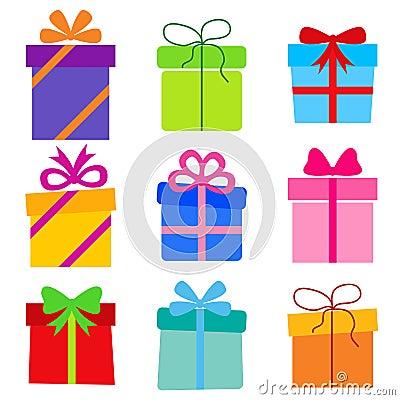 Free Vector Collection: Gift Boxes Stock Photos - 33497243