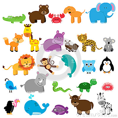 Free Vector Collection Of Animals Royalty Free Stock Images - 54642849