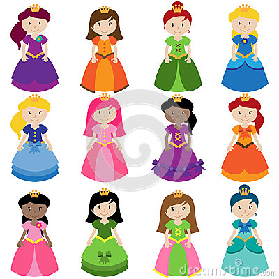 Free Vector Collection Of Pretty Princesses Stock Photos - 38440463
