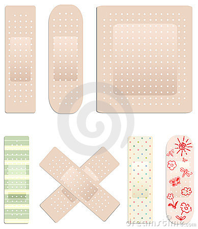 Vector collection of plasters