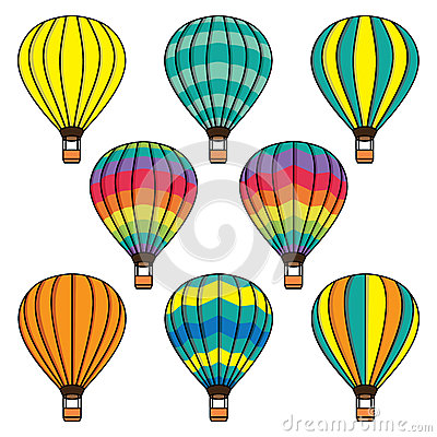 Free Vector Collection Set With Air Balloons Stock Images - 60024384