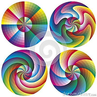 Free Vector Color Chart Set Stock Photos - 35228473