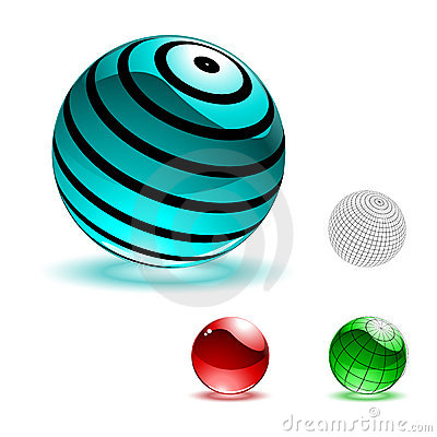 Vector color shiny spheres