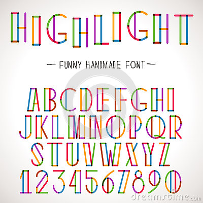 Vector Colorful Alphabet Vector Illustration