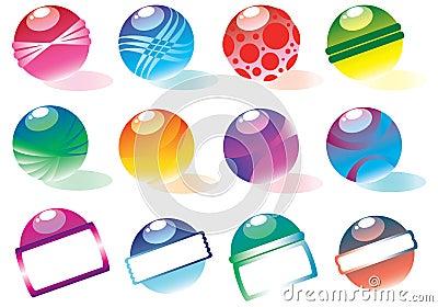 Vector colorful balls