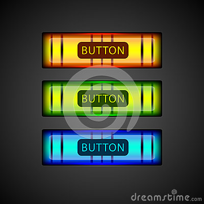 Vector colorful buttons.