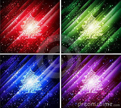 Vector colorful christmas backgrounds