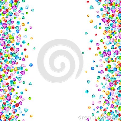 Free Vector Colorful Gem Stones Background Element In Flat Style Royalty Free Stock Images - 122015749
