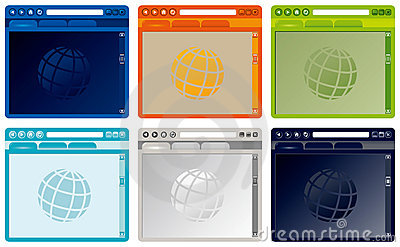 Vector colorful Internet browser