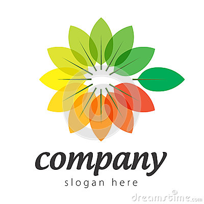 Logo colorful plants