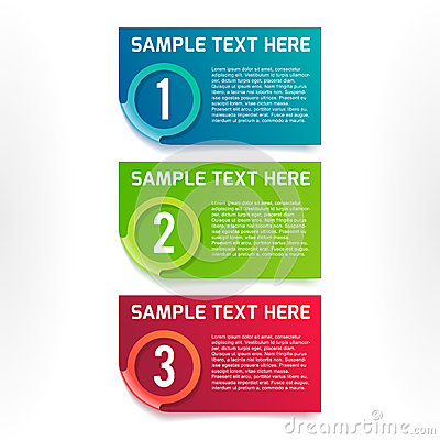 Vector colorful option banners