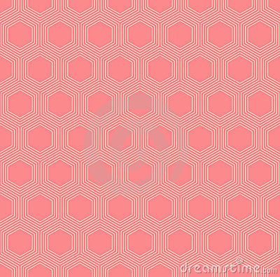 Vector colorful orange hexagons seamless pattern Vector Illustration