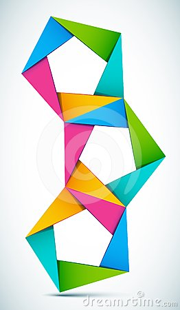 Vector colorful shapes composition