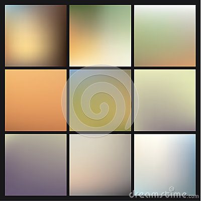 Free Vector Colorfully Blurred Backgrounds. Pack Of Fresh Blurry Back Stock Photo - 37034870