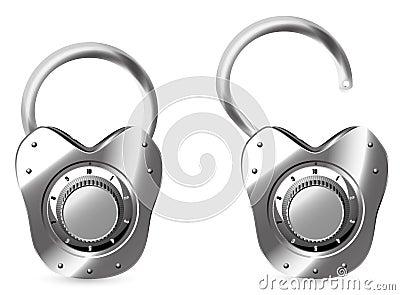 Vector combination lock
