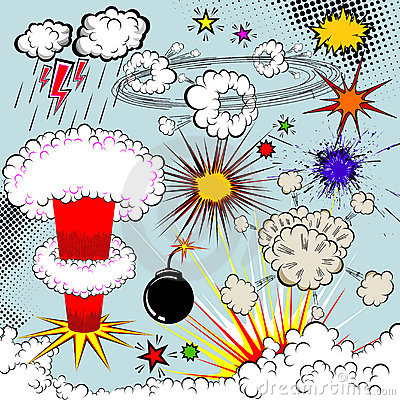 Free Vector Comic Book Explosion Stock Photography - 17544142