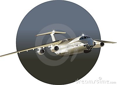 Vector Commercial freighter IL-76