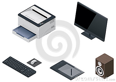 Vector computer devices icon set