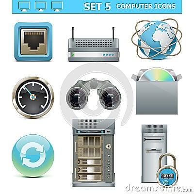 Vector Computer Icons Set 5