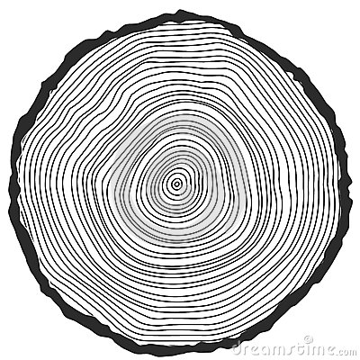 Free Vector Conceptual Background With Tree-rings. Royalty Free Stock Images - 48059709