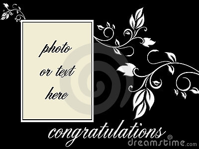 vector - Congratulations portrait frame