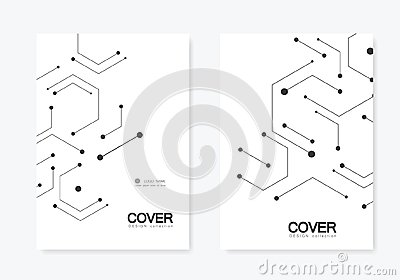 Vector connection and social network. Hexagons technology pattern Vector Illustration