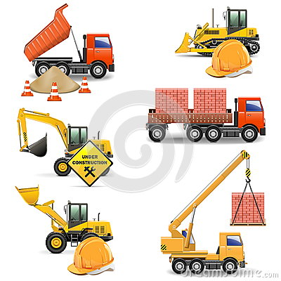 Vector Construction Machines Set 4