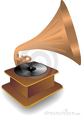 Free Vector Copper Gramophone Royalty Free Stock Images - 12666779
