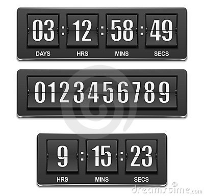 Vector countdown timer. Under construction sign bo