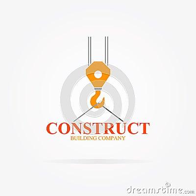 vector crane logo for construction company stock vector