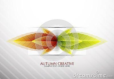 Vector creative autumn background