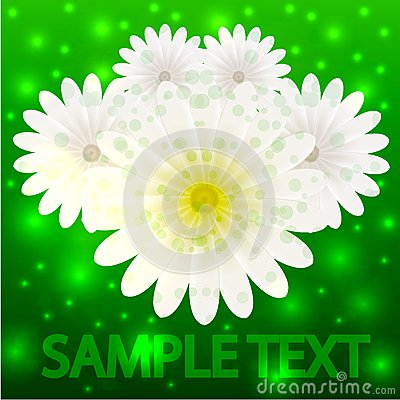 Vector creative flowers background for invitation