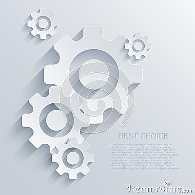 Vector creative mechanism icon background. Eps 10
