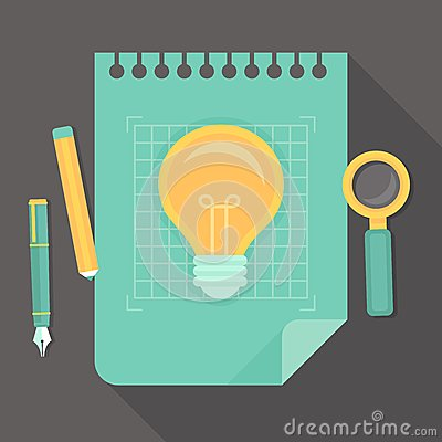 Vector creative project - icon in flat style